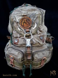 The Atomic Slug Deluxe post-apocalyptic backpack. Available at KarolB.com $90