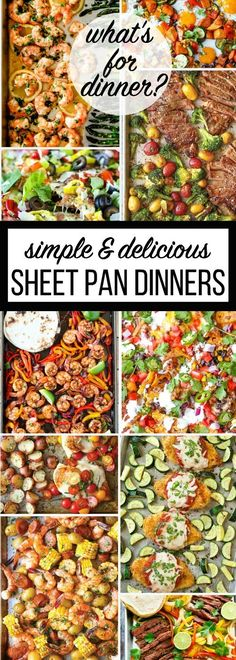 When I first started to noticing Sheet Pan Dinner Recipes on Pinterest, I thought, gosh that looks good! I asked, is it really that easy? And look at all those veggies on the pan!!! Perfect for our fa