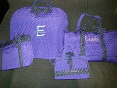 Personalized Duffle Makeup Bag or Garment Bag (Purple or Red) on Etsy, $30.00