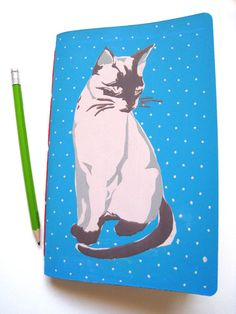 Siamese Cat Silkscreen Print Journal