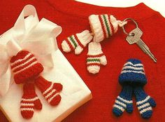 Tiny Crochet Hats & Mittens Ornament Patterns by BeadedBundles