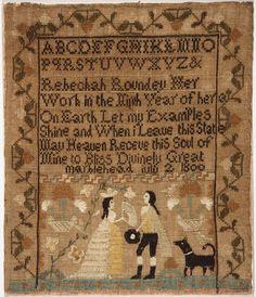 Philadelphia Museum of Art - Collections Object : Sampler Rebeckah Roundey