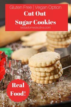 Gluten Free - Vegan Sugar Cookies #glutenfreecookies #glutenfreevegancookies #glutenfreesugarcookies #glutenfreechristmascookies #glutenfreesugarcookies #glutenfreechristmascookies #glutenfreevegansugarcookies