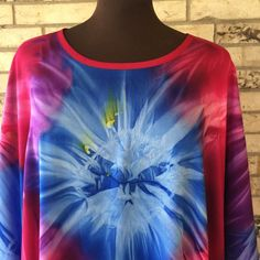 Plus Size Lightweight Tie Dye Rayon Tunic by OutrageousRags