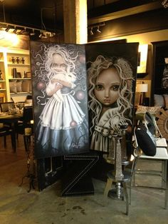 Angelina Wrona Pop Surrealism, Big Eyes, Art Girl, Whimsical, Bedroom Decor, Princess Zelda, Romantic, Purple, Heart