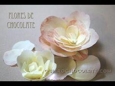Como hacer una flor de chocolate - YouTube