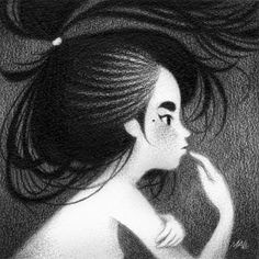 Innocent Girls - A Series of Graphite Works by May Ann Licudine