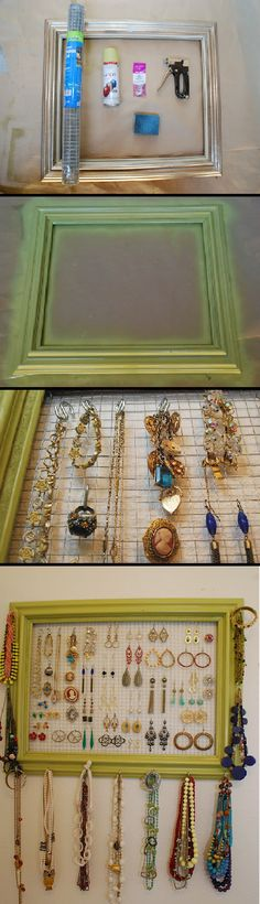 make your own Jewelry holder! I am already plotting this for my office.