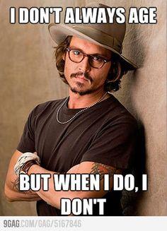 johnny depp age | 9GAG - Johnny Depp doesn't always age...