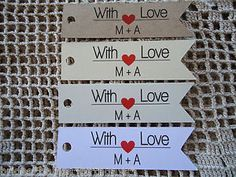 10-Kraft-White-Gift-Tags-Wedding-Favour-Bomboniere-Personalised-With-Love