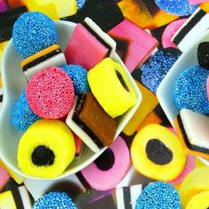 Want ideas on what to do with all your candy? Check out our speech therapy candy. Liquorice Sweets, Liquorice Allsorts, Frosted Flakes, Stevia, Effects Of Sugar, Black Licorice, Blue Candy, Dutch Recipes, Pick And Mix