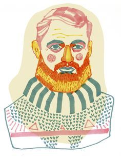 Ernest Hemingway Porträtt | Kristin Lidström