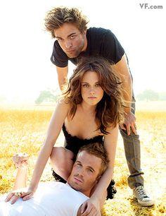 HOT!!!   ru_glamour: Robert Pattinson, Kristen Stewart, Cam Gigandet in Vanity Fair December 2008 (Twilight movie promo)