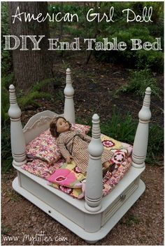 How To Make A Diy American Girl Doll Bed From An Old End Table