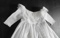 Christening Gown Vintage English w/ fine Handworked 'Broderie Anglaise'.