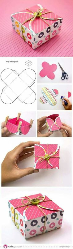 Ideas for diy paper box template origami Origami Paper, Diy Paper, Paper Crafts, Origami Boxes, Diy Origami, Ideas Origami, Origami Mobile, Dollar Origami, Origami Ball