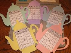 THE HOBBY LADY: Tea Pot BINGO cards