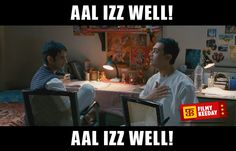 All is well 3 Idiots Dialogues We are sharing Funny 3 Idiots Dialogues Meme Bollywood Dialogues Meme By Filmy Keeday
