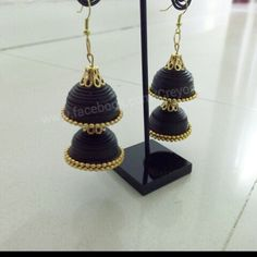 Quilled Traditional Jhumkha(earring) mansid281@gmail.com