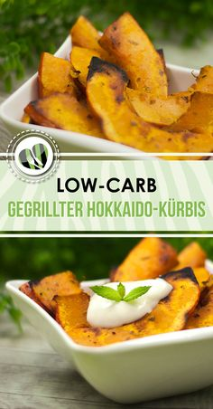 Der Hokkaido-Kürbis vom Grill ist ein leckeres low-carb Gericht. Zudem ist es glutenfrei und vegan.