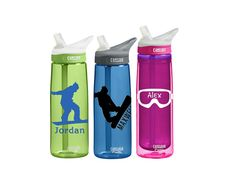 Snowboarding / Ski CamelBak Personalized Sports Bottle Custom SmittenInAMitten