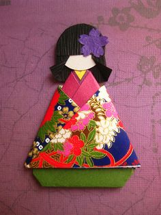 Chiyogami paper doll
