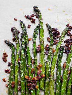 Spring asparagus, crispy bacon, and parmesan