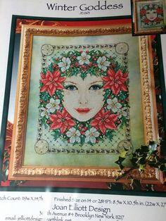 Winter Goddess Cross Stitch Chart Joan Elliott by AnarawynDesigns