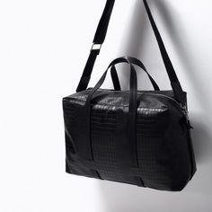 ZARA - MAN - ETCHED BOWLING BAG