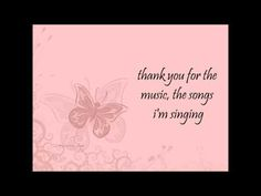Amanda Seyfried - Thank you for the music - YouTube