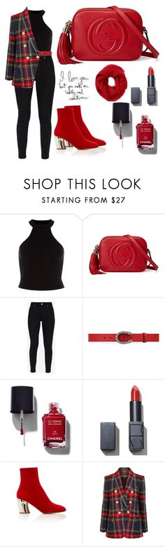 """Untitled #9146"" by tatyanaoliveiratatiana ❤ liked on Polyvore featuring Gucci, Ted Baker, Chanel, NARS Cosmetics, Proenza Schouler, Balmain, Charlotte Russe, men's fashion and menswear"