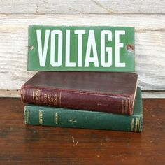 Enamel Voltage Sign, now featured on Fab.