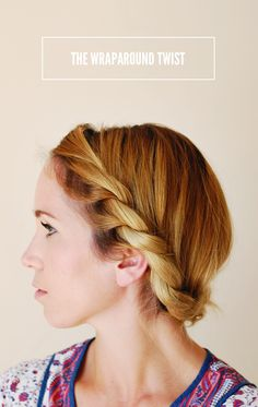 Wraparound Twist Hair Tutorial