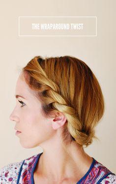 Wraparound Twist Hair Tutorial
