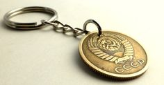 Russian Coin keychain USSR keychain Vintage by CoinStories on Etsy