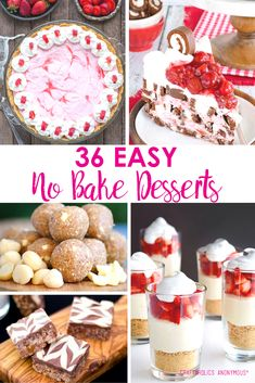 Easy No Bake Desserts for Summer. Find your next yummy summer treat recipe!