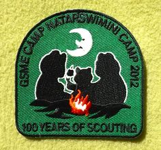 Girl Scouts of Maine 100th Anniversary Camp Natarswim Mini Camp 2012 patch. Thank you Debbie!