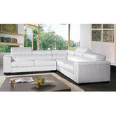 Found it at AllModern - Burdie Leather Sectional