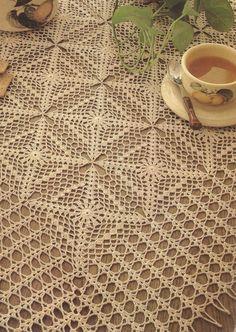 #57 Mantel Color Crudo a Crochet