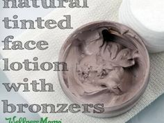 Natural Tinted Face Lotion with Bronzers recipe and tutorial