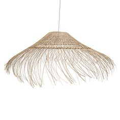 Say aloha to this easy, breezy ceiling pendant. Woven from natural rattan, this pendant will catch the light with the subtle curves of the fringing, designed to echo the gentle windswept motion of palm trees by the sea. This pendant light is the ideal choice for anyone who wants to bring a taste of the warm ocean breeze into their home, whether you live by the sea or not! Organic textures and a curved shape make this inviting piece a fabulous statement in your home.