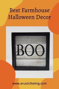 This adorable Rustic Halloween BOO Sign would look amazing with your Halloween Decor ! Rustic Halloween, Farmhouse Halloween, Halloween Signs, Halloween Boo, Halloween Decorations, Country Fall Decor, Country Signs, Fall Home Decor, Autumn Home