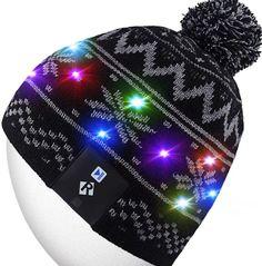 LED Light Up Beanie Hat Knit Cap