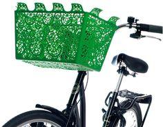 green bike basket.  lovely.