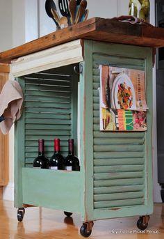 Ilha de cozinha feita com janelas                              …