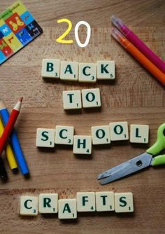 back to school craft ideas - oh we LOVE to get ready for back to school and making a host of our school supplies. Here are some great ideas to get you started.