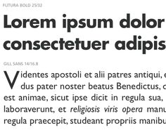 Fonts that work with Gills Sans -- ie Futura + Gill Sans