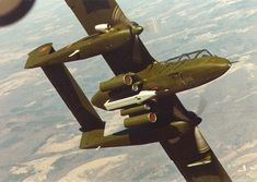 fcba:  An OV-10 Bronco on a Rockwell test flight over the United States just before being delivered to the Royal Moroccan Air Force in 1981. (Rockwell)