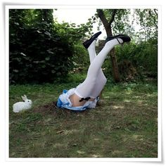 Funny yard decor for spring/Easter