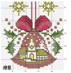 Cross Stitch Christmas Ornaments, Xmas Cross Stitch, Christmas Embroidery, Christmas Cross, Cross Stitching, Cross Stitch Embroidery, Embroidery Patterns, Cross Stitch Designs, Cross Stitch Patterns